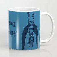 donnie darko Mugs featuring Donnie Darko by sgrunfo