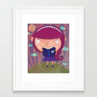 girly Framed Art Prints featuring Girly by Maria Jose Da Luz