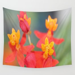 Succulent Red and Yellow Flower Wall Tapestry