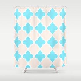 Quatrefoil - cream and arctic Shower Curtain