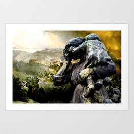 The Destruction of Jerusalem  Art Print
