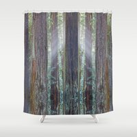 giants Shower Curtains featuring Future Giants by Mark Alder