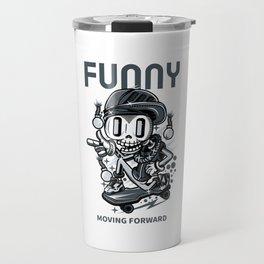 Funny Skateboarder Travel Mug