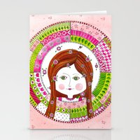 virgo Stationery Cards featuring Virgo by Sandra Nascimento