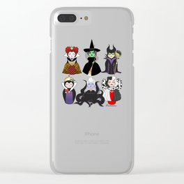 Evil kokeshis Clear iPhone Case