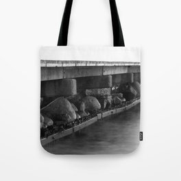 Pier black white Tote Bag