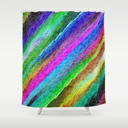 Colorful digital art splashing G478 Shower Curtain