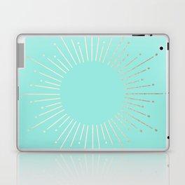 Simply Sunburst in Tropical Sea Blue Laptop & iPad Skin