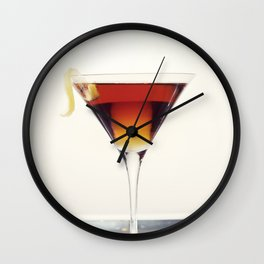 Cocktail with Twist Wall Clock