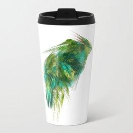 Green Bird - Fractal Art Travel Mug