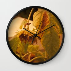 The Sun has Set and tomorrow, God willing, it will rise again [SUNFLOWER] [WILTING] [YELLOW SKY]  Wall Clock