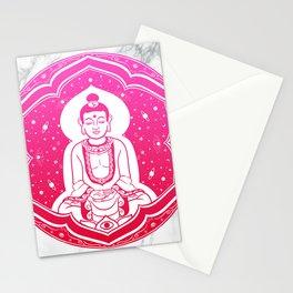 Buda Gautama, Siddharta Gautama, Sakiamuni (pink) Stationery Cards