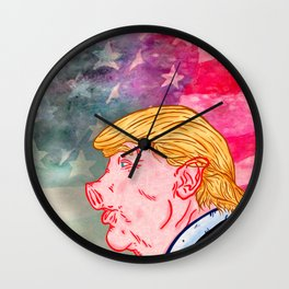Trumpork Wall Clock