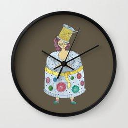Xavière la Couturière Wall Clock