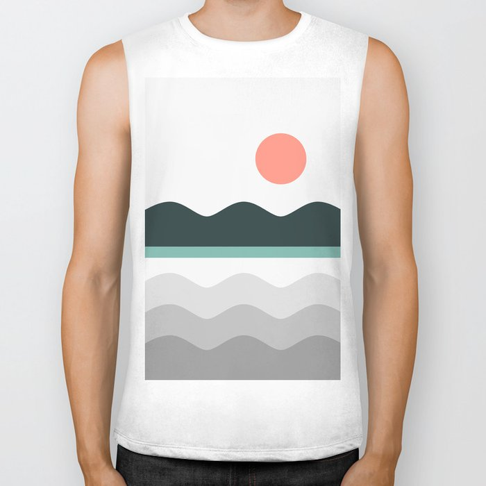 Abstract Landscape 05 Biker Tank