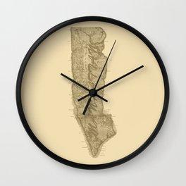 Vintage Manhattan Gold Wall Clock