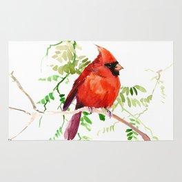 Cardinal Bird Rug