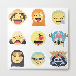 Nakama Emoji Design Metal Print