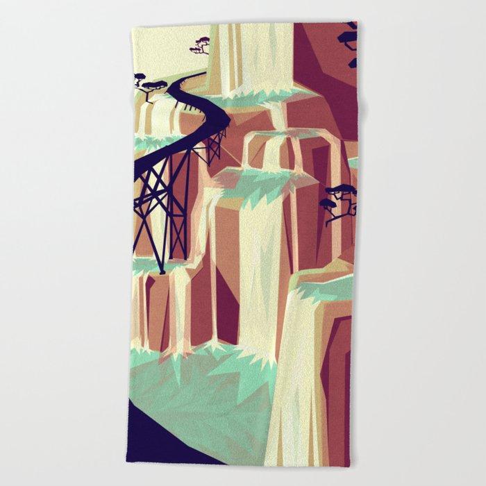 The black bridge Beach Towel