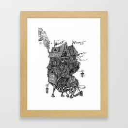 the wandering library 2 Framed Art Print