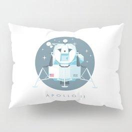 Apollo 11 Lunar Lander Module - Text Slate Pillow Sham