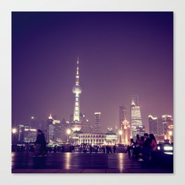 Shanghai Night Canvas Print