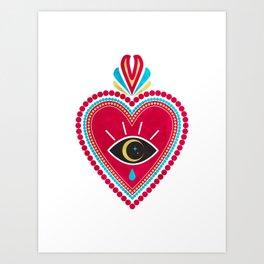 Ex Voto Sacred Heart Art Print