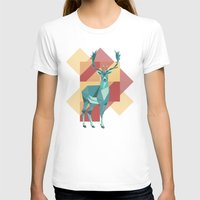 origami T-shirts featuring Origami Deer by Minette Wasserman