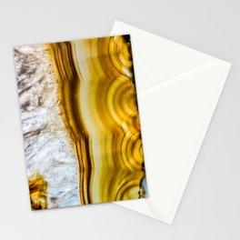 Amber Honey Agate Earth Stationery Cards