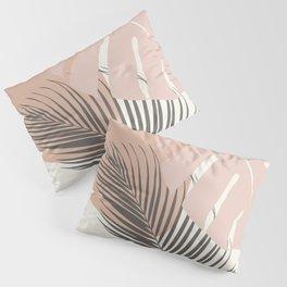 Minimal Monstera Palm Finesse #4 #tropical #decor #art #society6 Pillow Sham