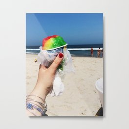Summer SnowCone at the Jersey Shore Metal Print