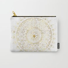 Gold Hand Drawn Mandala Carry-All Pouch