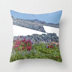 Mountain Summer Throw Pillow