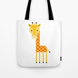 Adorable Giraffe standing up Tote Bag