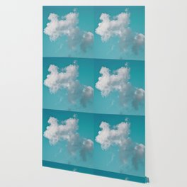 Floating cotton candy with blue green Wallpaper