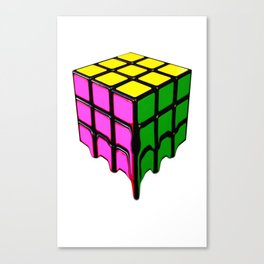 The Cube, It's Melting Canvas Print