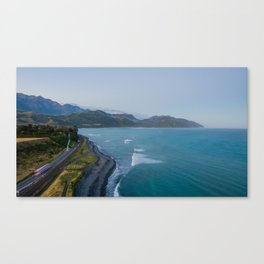 kaikoura oceanview mountains effect panorama new zealand Canvas Print