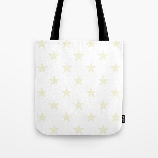 Stars (Beige/White) Tote Bag
