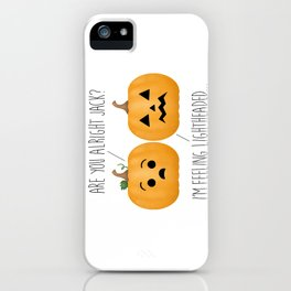 Lightheaded Jack-O-Lantern iPhone Case