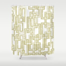 Labyrinth Golden lines Shower Curtain