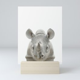 Baby Rhinoceros Mini Art Print