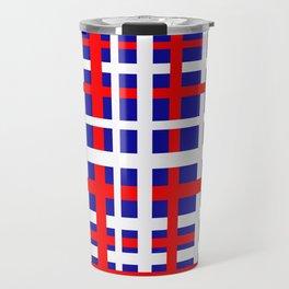 Patriotic Interlocking Stripes Travel Mug