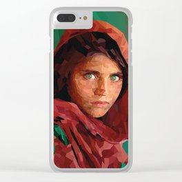 Afghan . Girl Clear iPhone Case