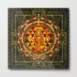 Shri Yantra- Maha Lakshmi Ashtakam- Abundance Metal Print