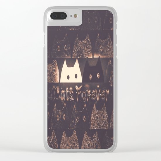 cats-225 Clear iPhone Case