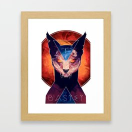 Bastet - Cat Goddess Framed Art Print