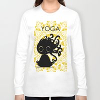 yoga Long Sleeve T-shirts featuring Yoga by BLOOP