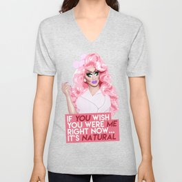 """If you wish you were me right now"" Trixie Mattel, RuPaul's Drag Race Unisex V-Neck"