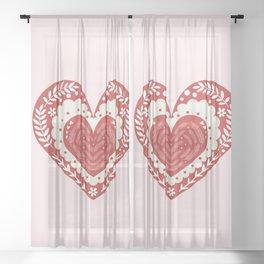 Nordic Triple Heart Sheer Curtain