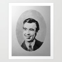 Mr. Rogers Watercolor Art Print